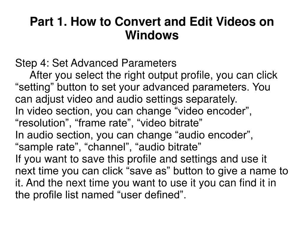 Step 4: Set Advanced Parameters