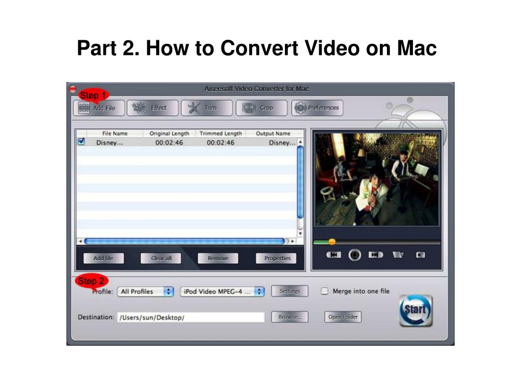 Part 2. How to Convert Video on Mac