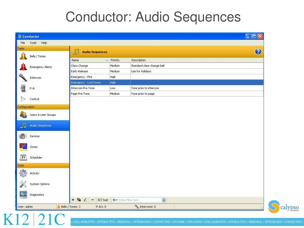 Conductor: Audio Sequences