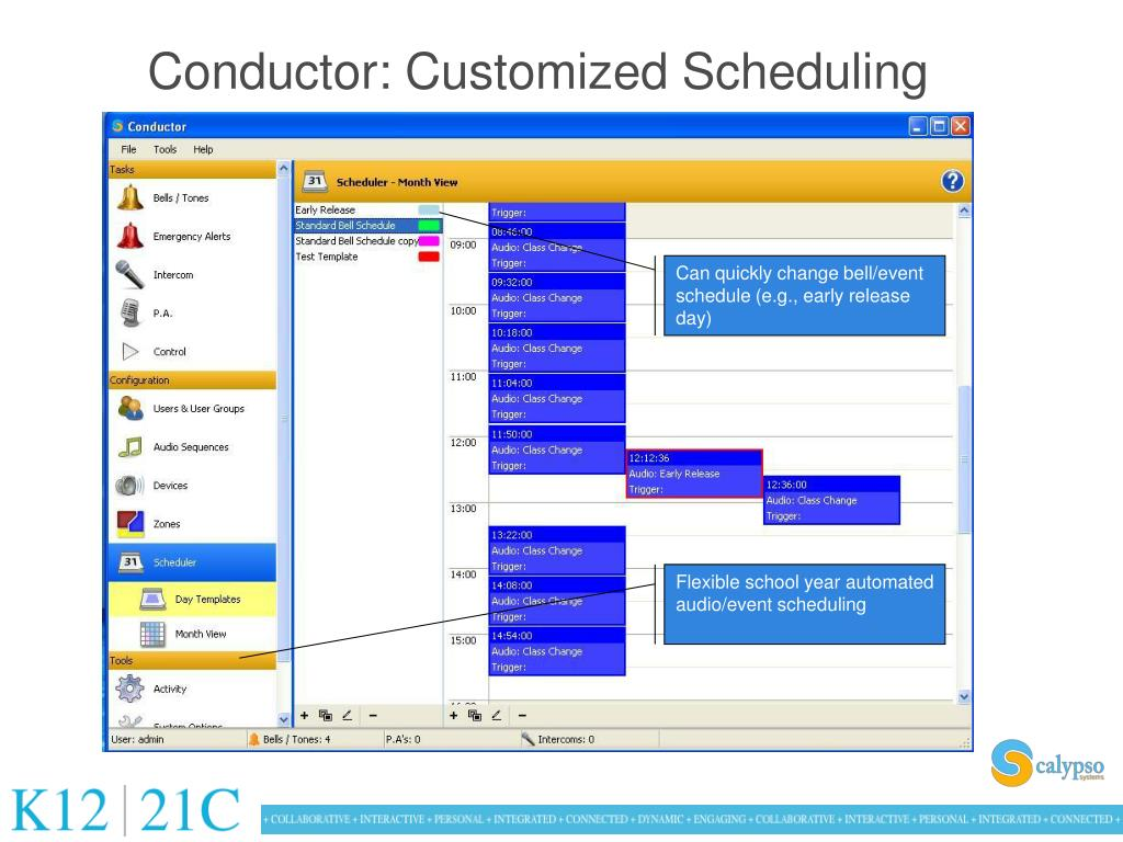 Conductor: Customized Scheduling