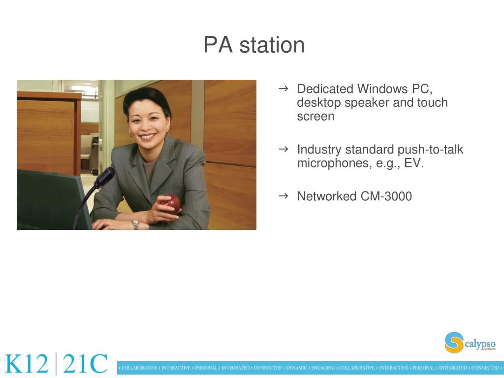 PA station
