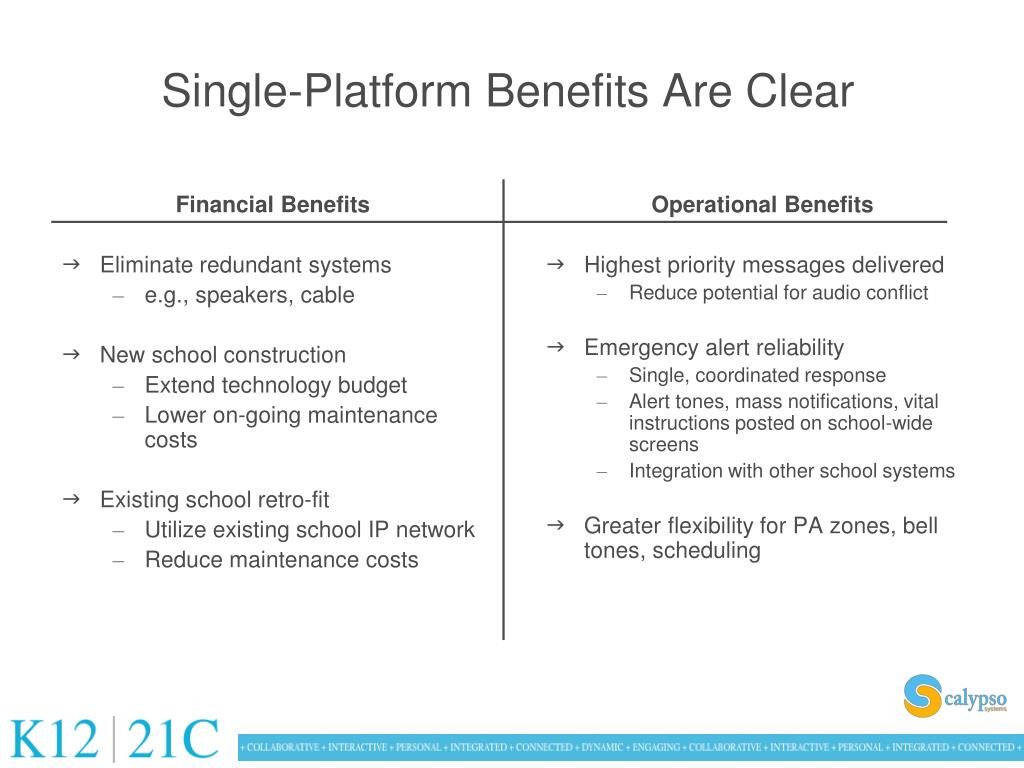 Single-Platform Benefits Are Clear
