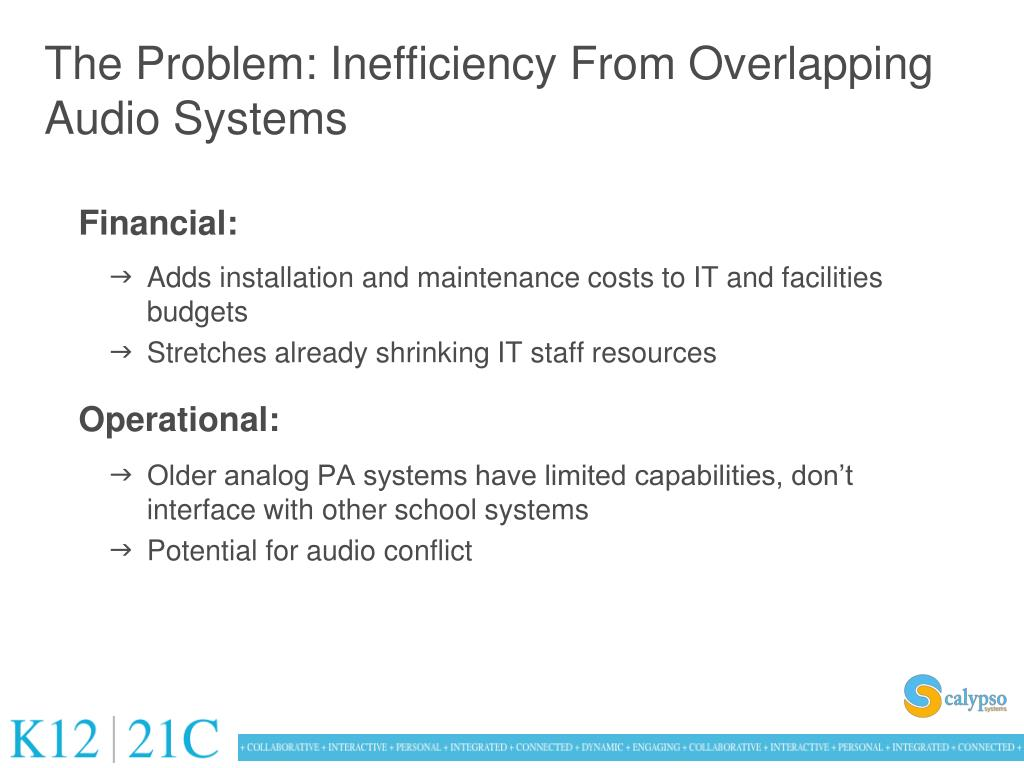 The Problem: Inefficiency From Overlapping Audio Systems