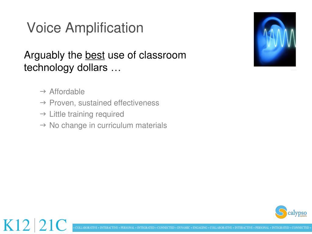 Voice Amplification