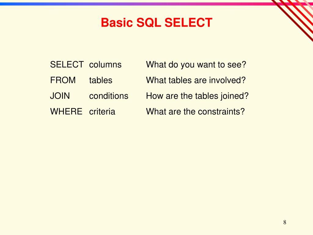Basic SQL SELECT
