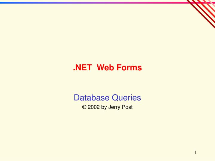 Net web forms
