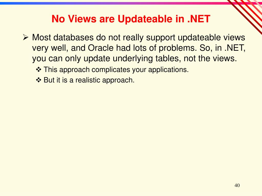 No Views are Updateable in .NET