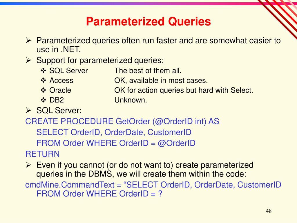 Parameterized Queries