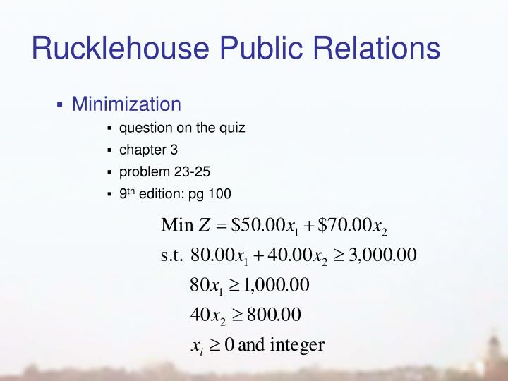 Rucklehouse Public Relations