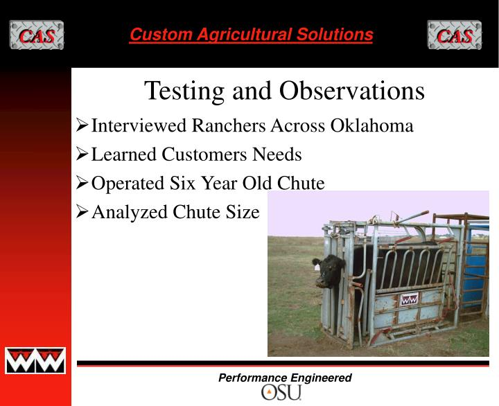Interviewed Ranchers Across Oklahoma