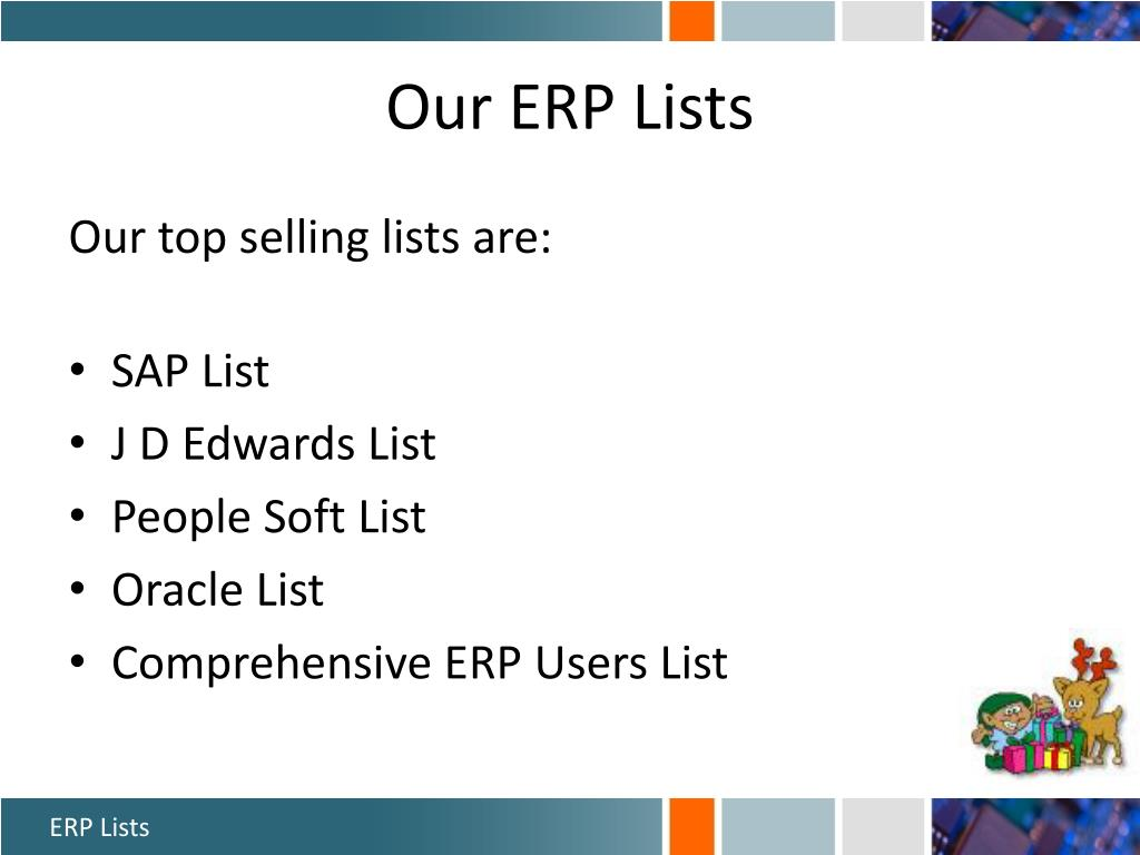 Our ERP Lists