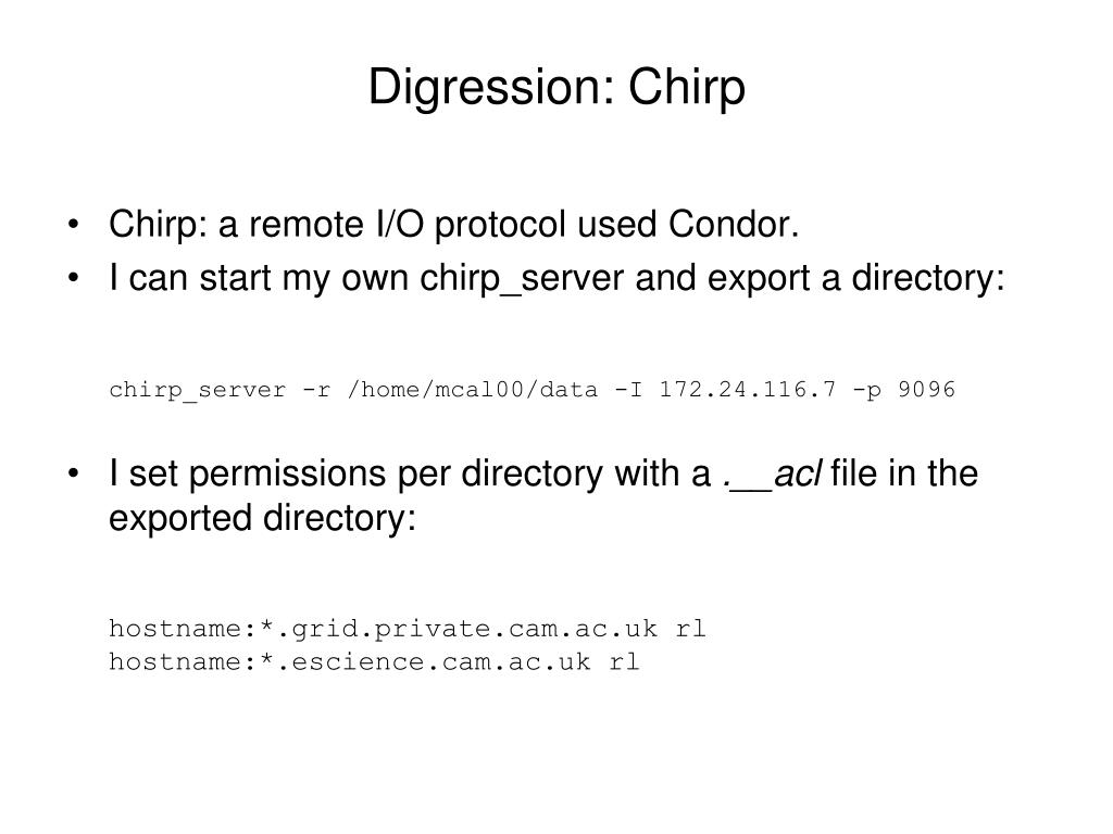 Digression: Chirp