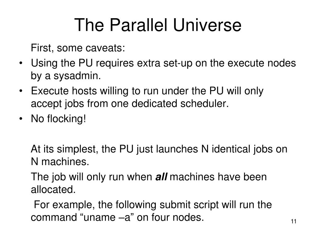 The Parallel Universe