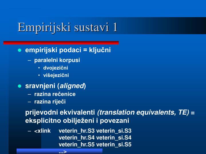 Empirijski sustavi 1