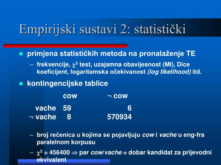 Empirijski sustavi 2: statistički