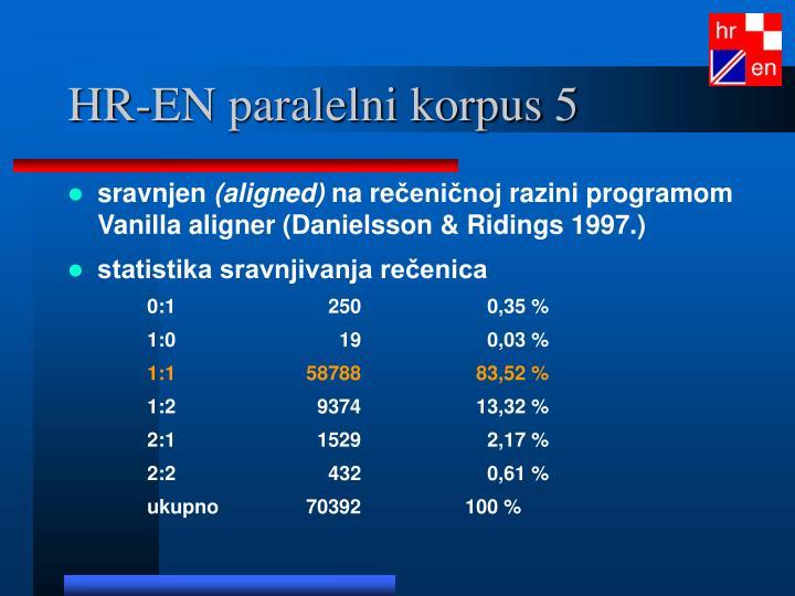 HR-EN paralelni korpus 5