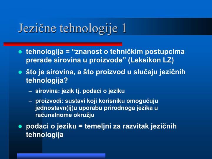 Jezične tehnologije 1