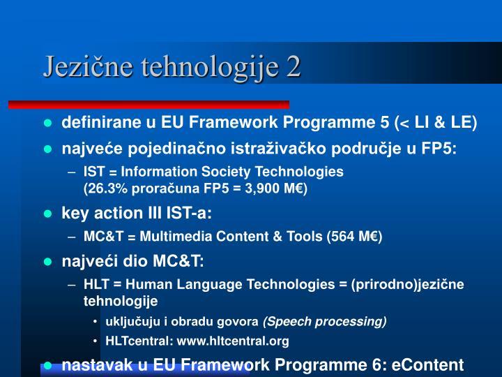 Jezične tehnologije 2