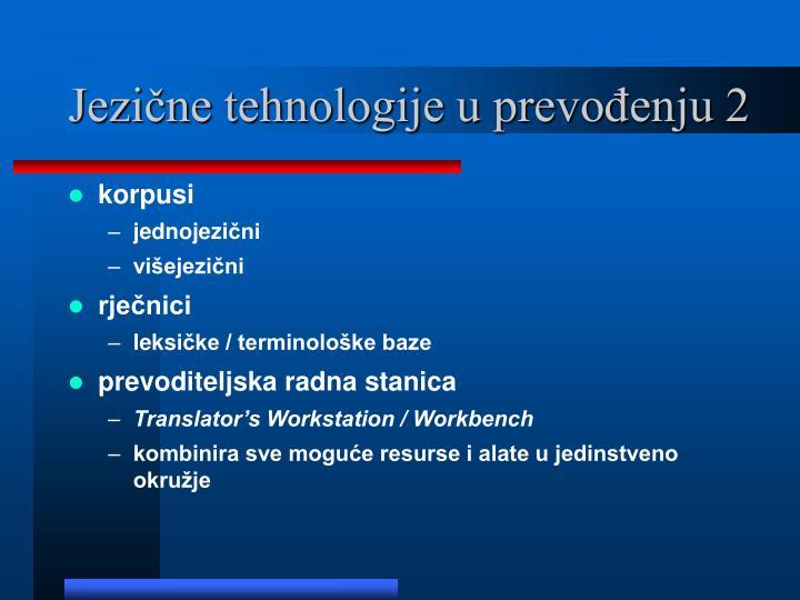 Jezične tehnologije u prevođenju 2