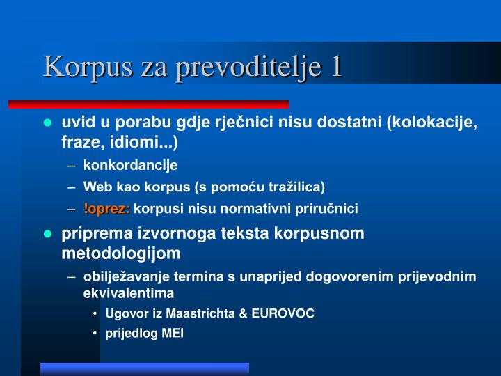 Korpus za prevoditelje 1