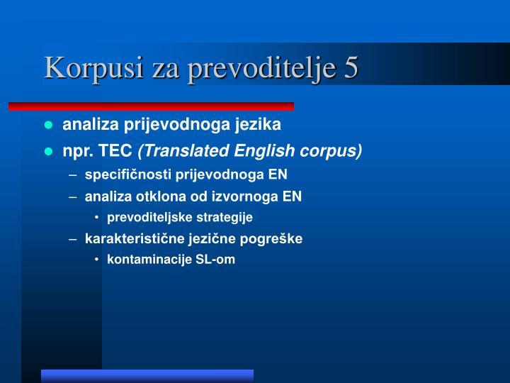 Korpusi za prevoditelje 5