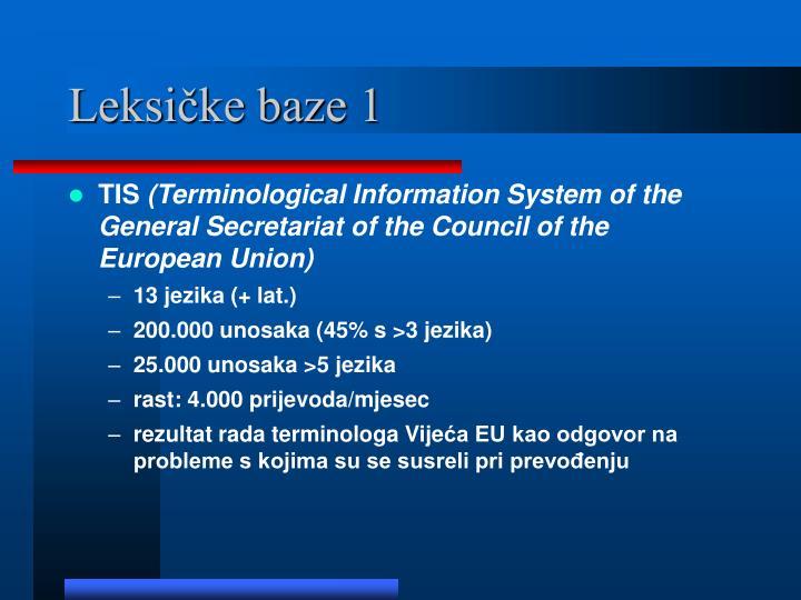 Leksičke baze 1