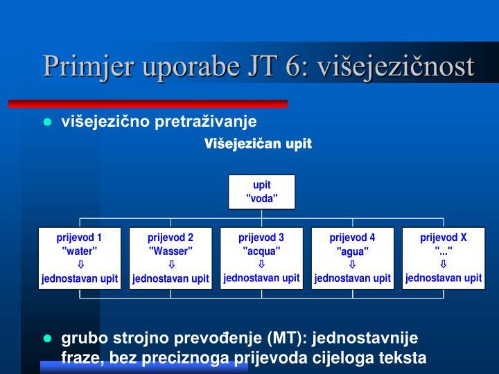 Primjer uporabe JT 6: višejezičnost