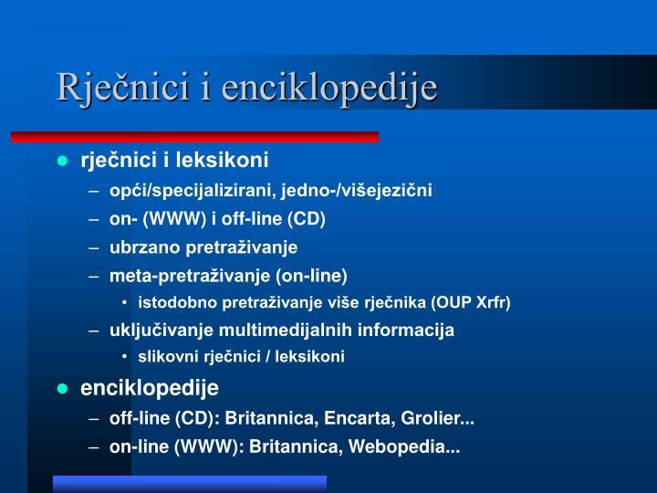 Rječnici i enciklopedije