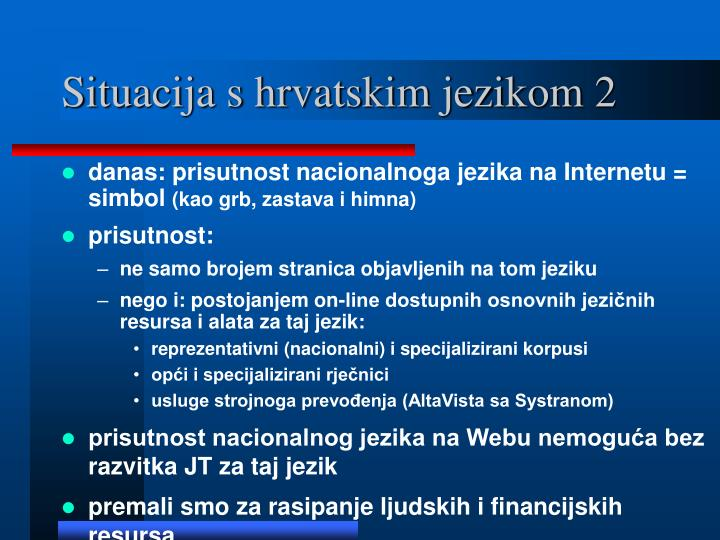 Situacija s hrvatskim jezikom 2