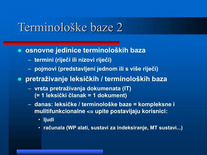 Terminološke baze 2