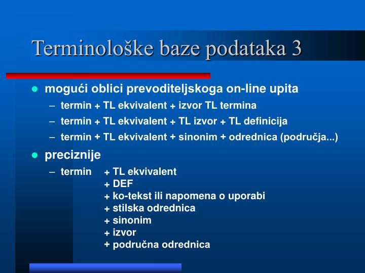 Terminološke baze podataka 3