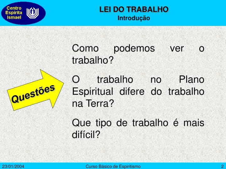 LEI DO TRABALHO