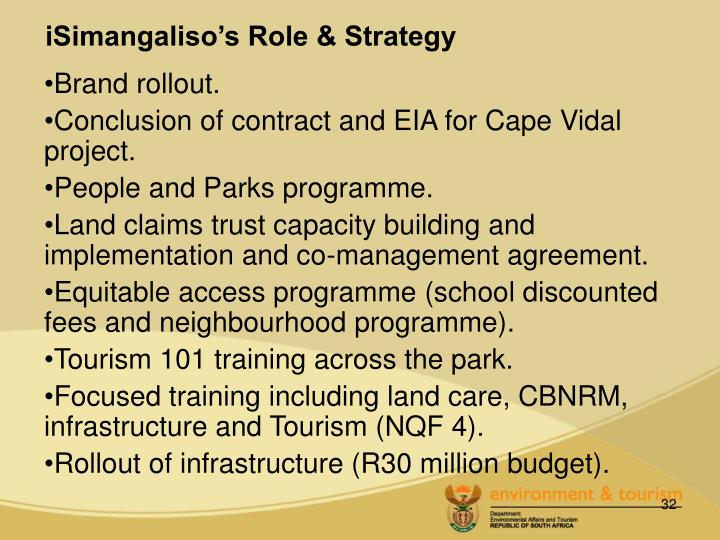 iSimangaliso's Role & Strategy