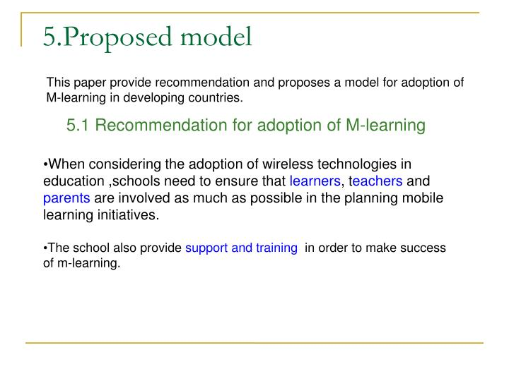 5.Proposed model