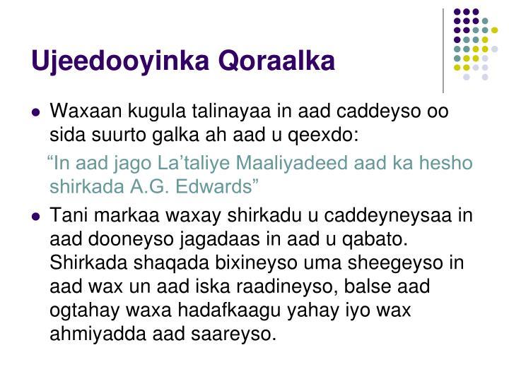 Ujeedooyinka Qoraalka