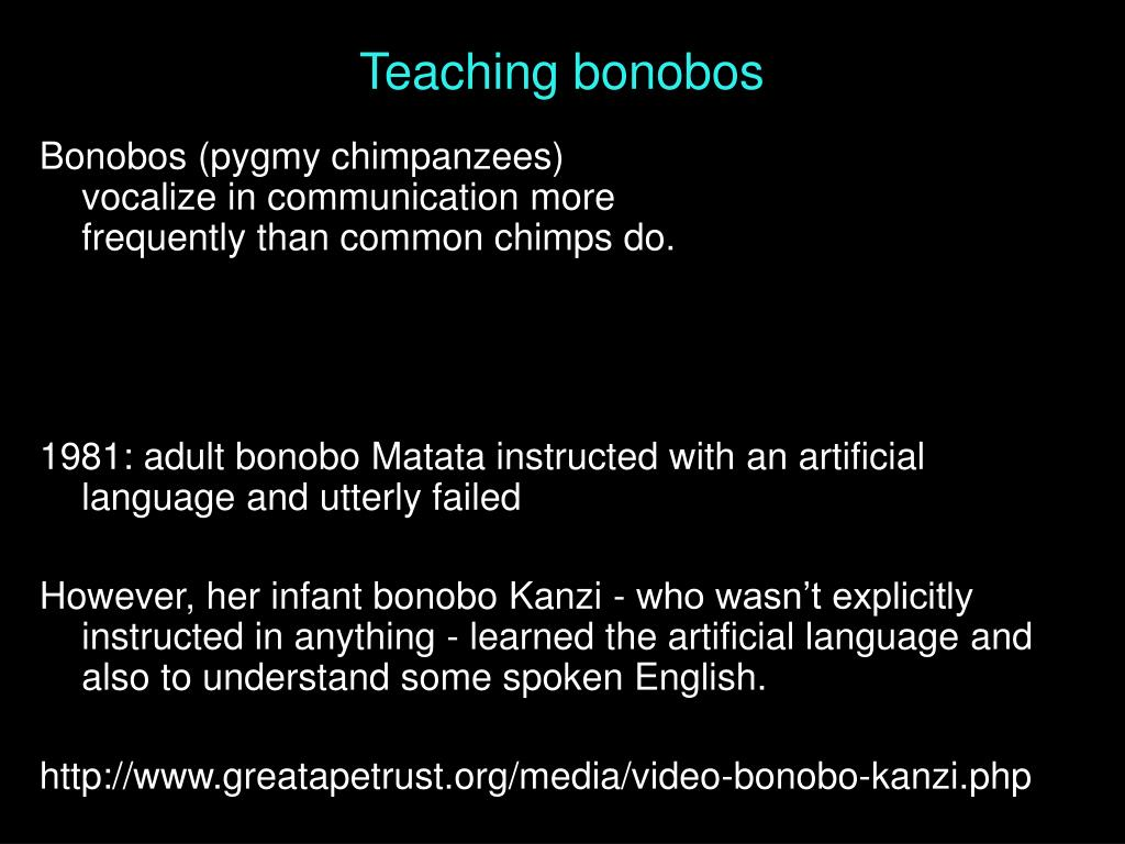Teaching bonobos
