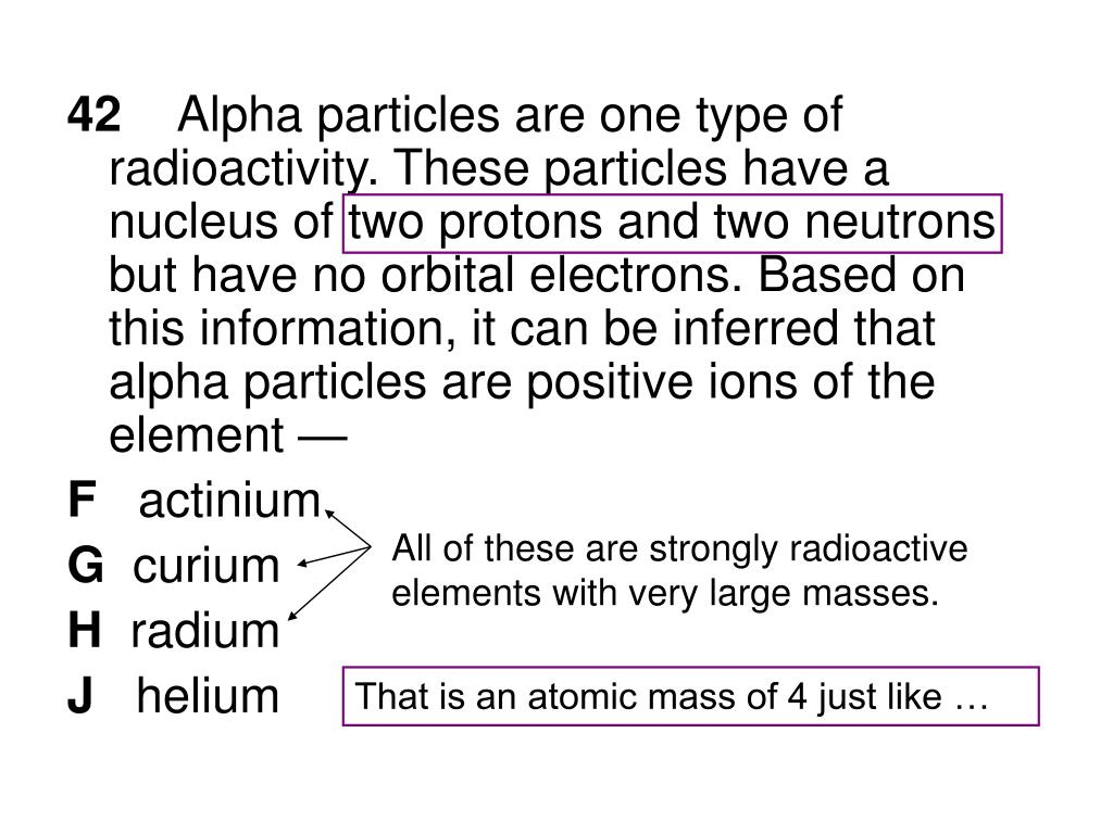 All of these are strongly radioactive elements with very large masses.