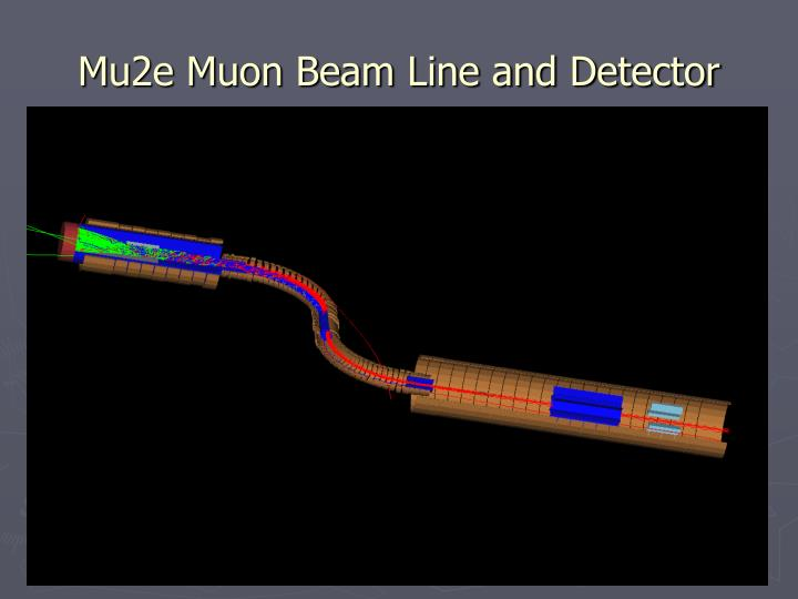 Mu2e Muon Beam Line and Detector