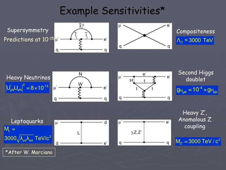 Example Sensitivities*