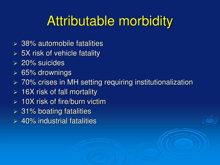 Attributable morbidity