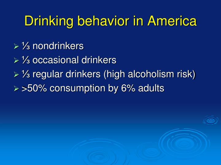 Drinking behavior in America