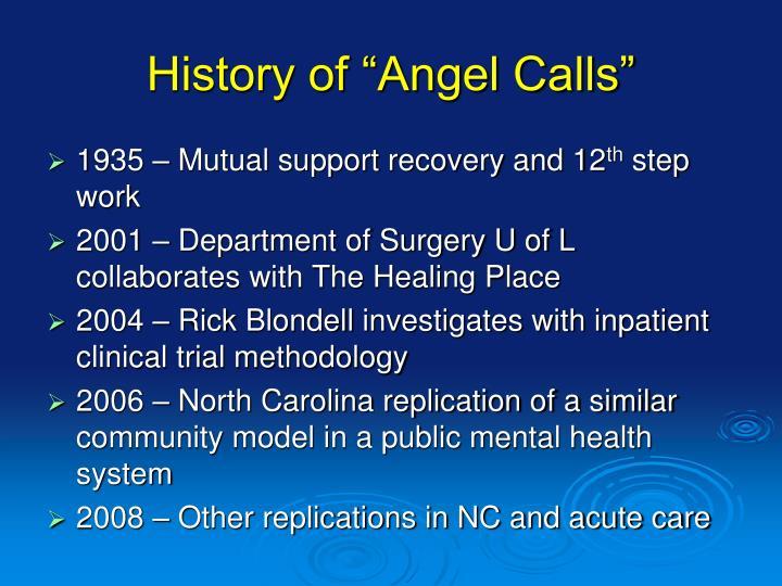 "History of ""Angel Calls"""
