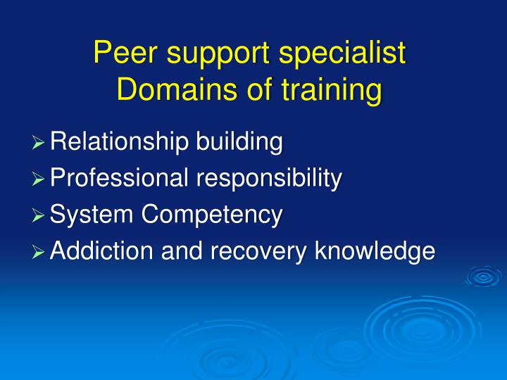Peer support specialist