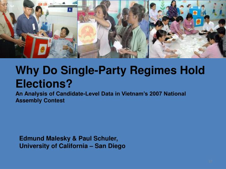 Why Do Single-Party Regimes Hold