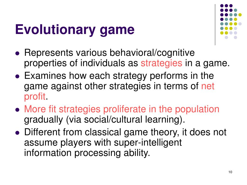 Evolutionary game
