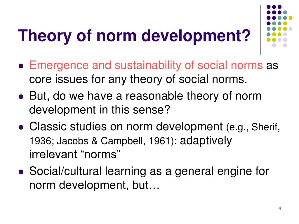 Theory of norm development?
