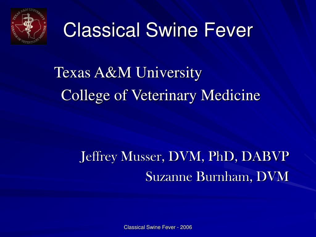 Classical Swine Fever