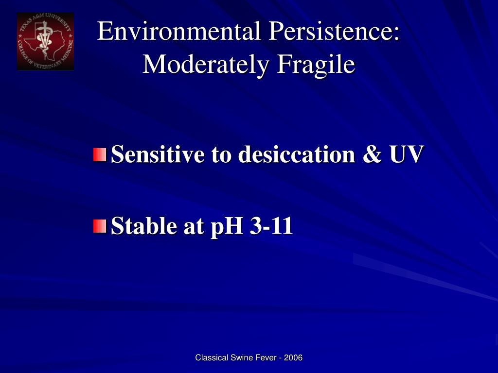 Environmental Persistence: