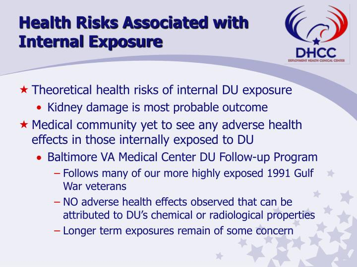 Health Risks Associated with Internal Exposure