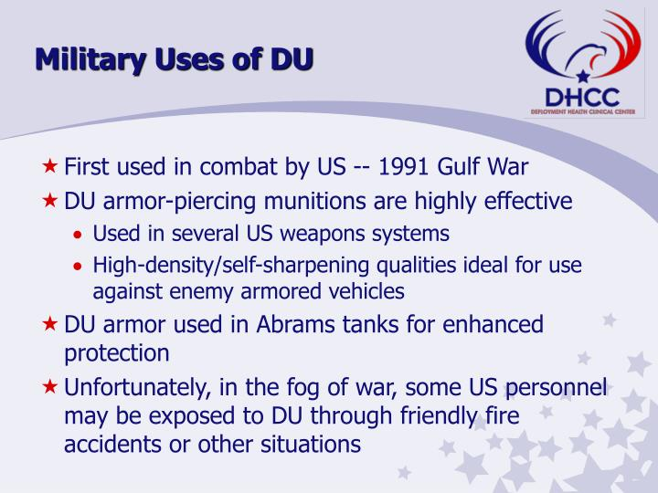 Military Uses of DU